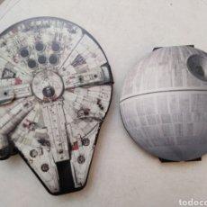 Figuras y Muñecos Star Wars: LOTE DE 2 COLECCIONES COMPLETAS STAR WARS-CARREFOUR(24 BUSTZ,HALCÓN MILENARIO)Y(ESTUCHE 20 FIGURAS). Lote 254805125