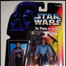 Figuras y Muñecos Star Wars: STAR WARS # LANDO CALRISSIAN # THE POWER OF THE FORCE - NUEVO EN BLISTER ORIGINAL DE KENNER.. Lote 254997545