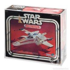Figuras y Muñecos Star Wars: CAJA ACRÍLICA PARA EXPOSICIÓN STAR WARS VINTAGE X-WING XWING - KENNER PALITOY BILOGO TRILOGO. Lote 255018120