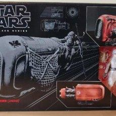 Figuras y Muñecos Star Wars: REY'S SPEEDER (JAKKU) STAR WARS THE BLACK SERIES NUEVO. Lote 256071790