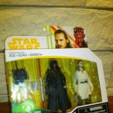 Figuras y Muñecos Star Wars: STAR WARS - FORCE LINK 2.0 - SET FIGURAS - DARTH MAUL - QUI-GON JINN - HASBRO - NUEVO. Lote 257837445