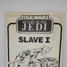 Figuras y Muñecos Star Wars: STAR WARS INSTRUCCIONES SLAVE I. PALITOY. NO KENNER. VINTAGE. 1983.. Lote 261282355