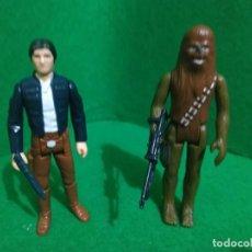 Figuras e Bonecos Star Wars: HAN SOLO BESPIN CHEWBACCA LAS 2 HONG KONG VINTAGE KENNER. Lote 261650410