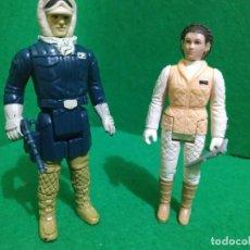 Figuras e Bonecos Star Wars: HAN SOLO LEIA HOTH LAS 2 HONG KONG VINTAGE KENNER. Lote 261650475