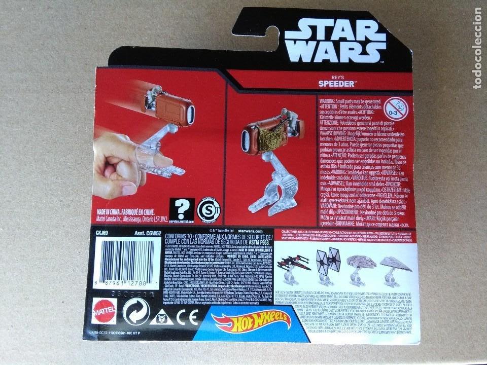 Figuras y Muñecos Star Wars: STAR WARS REYS SPEEDER HOTWHEELS BLISTER 2015. - Foto 2 - 261789340