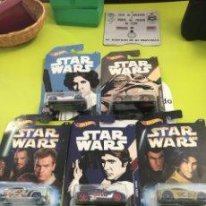 Figuras y Muñecos Star Wars: HOTWHEELS STAR WARS 5 COCHES. Lote 262397775