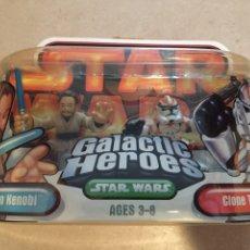 Figuras y Muñecos Star Wars: FIGURAS OBI WAN KENOBI & CLONE TROOPER - STAR WARS GALACTIC HEROES - KENNER VINTAGE HASBRO POTF. Lote 264751764