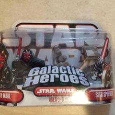 Figuras y Muñecos Star Wars: FIGURAS DARTH MAUL & SITH SPEEDER - STAR WARS GALACTIC HEROES - KENNER HASBRO VINTAGE POTF. Lote 264752039