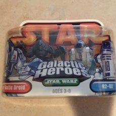 Figuras y Muñecos Star Wars: FIGURAS BATTLE DROID & R2-D2 - STAR WARS GALACTIC HEROES - HASBRO KENNER VINTAGE. Lote 264761094