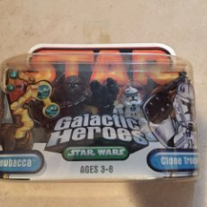 Figuras y Muñecos Star Wars: FIGURAS CHEWBACCA & CLONE TROOPER - STAR WARS GALACTIC HEROES - HASBRO KENNER VINTAGE. Lote 264761289