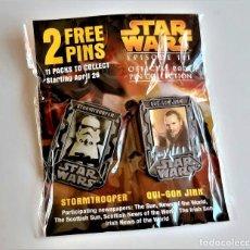 Figurines et Jouets Star Wars: STAR WARS PAREJA BROCHES O PINS. Lote 269119963
