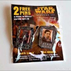 Figurines et Jouets Star Wars: STAR WARS PAREJA BROCHES O PINS. Lote 269120193