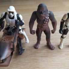 Figuras y Muñecos Star Wars: NAVE SPEEDER LUCAS FILM 1995 STAR WARS CHEWBACCA STORMTROOPERS SOLDADO IMPERIAL. Lote 271923733