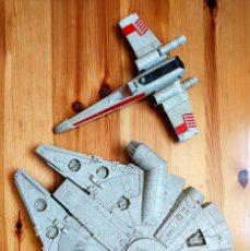 Figuras y Muñecos Star Wars: STAR WARS. 2 NAVES. HALCÓN MILENARIO Y X-WING. INCOMPLETAS.. Lote 276260023