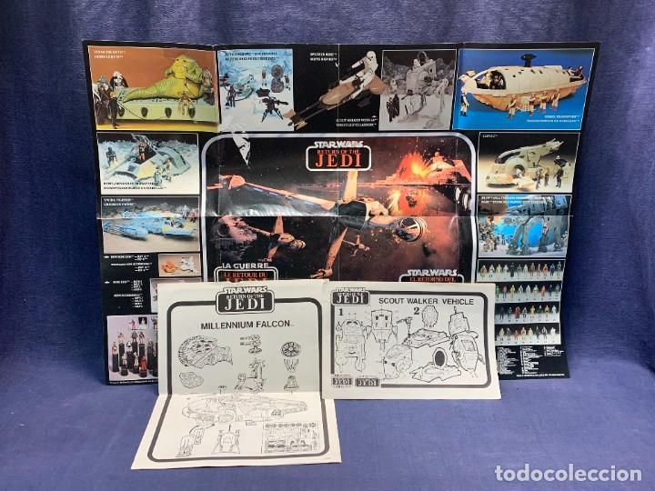 LOTE INSTRUCCIONES MILLENNIUM FALCON SCOUT WALKER VEHICLE CATALOGO POSTER RETURN OF THE JEDI 1983 (Juguetes - Figuras de Acción - Star Wars)