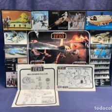 Figuras y Muñecos Star Wars: LOTE INSTRUCCIONES MILLENNIUM FALCON SCOUT WALKER VEHICLE CATALOGO POSTER RETURN OF THE JEDI 1983. Lote 285239693