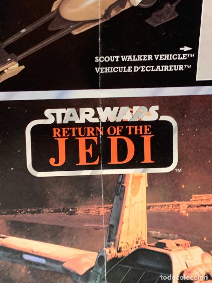 Figuras y Muñecos Star Wars: LOTE INSTRUCCIONES MILLENNIUM FALCON SCOUT WALKER VEHICLE CATALOGO POSTER RETURN OF THE JEDI 1983 - Foto 9 - 285239693
