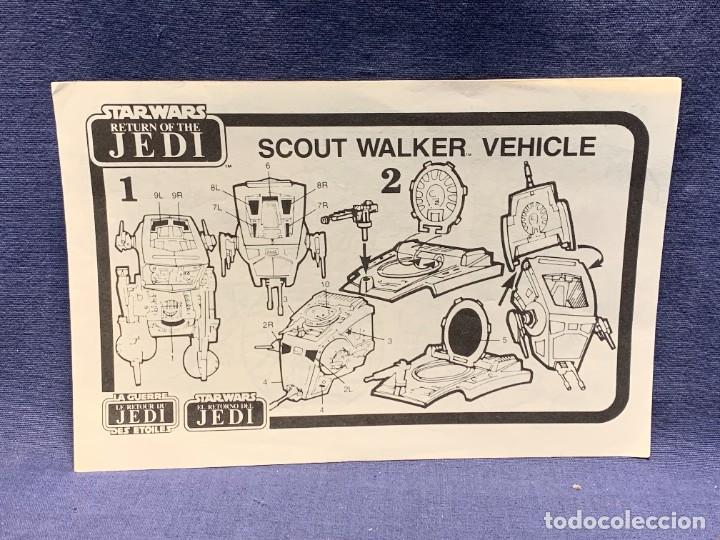 Figuras y Muñecos Star Wars: LOTE INSTRUCCIONES MILLENNIUM FALCON SCOUT WALKER VEHICLE CATALOGO POSTER RETURN OF THE JEDI 1983 - Foto 23 - 285239693