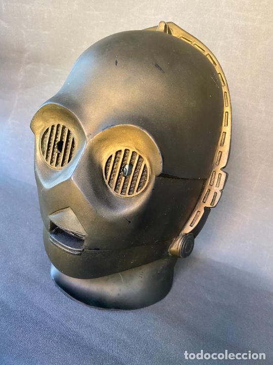 Figuras y Muñecos Star Wars: MASCARA DE LATEX DE C-3PO , STAR WARS , AÑO 1977 . Don Post Star Wars C-3PO latex mask . - Foto 7 - 286650988