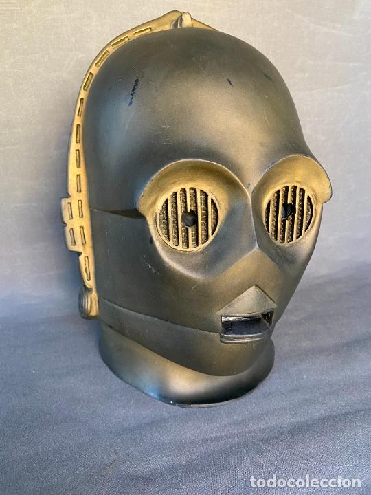 Figuras y Muñecos Star Wars: MASCARA DE LATEX DE C-3PO , STAR WARS , AÑO 1977 . Don Post Star Wars C-3PO latex mask . - Foto 8 - 286650988