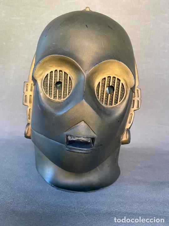 Figuras y Muñecos Star Wars: MASCARA DE LATEX DE C-3PO , STAR WARS , AÑO 1977 . Don Post Star Wars C-3PO latex mask . - Foto 9 - 286650988