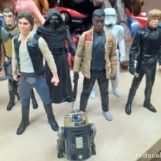 Figuras y Muñecos Star Wars: STAR WARS.LOTE DE 7 PERSONAJES.SKYWALKER,HAN SOLO,R2D2....LA GUERRA DE LAS GALAXIAS.. Lote 287356273