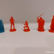 Figuras y Muñecos Star Wars: LOTE 5 FIGURA PLASTICO TRASLUCIDO STAR WARS . ROJO Y AZUL . 5 CM Y 3 CM. Lote 287579948