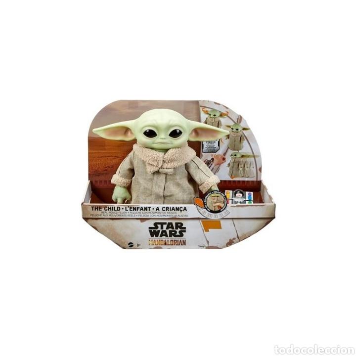 Figuras y Muñecos Star Wars: PELUCHE THE CHILD BABY YODA GROGU CON CONTROL REMOTO THE MANDALORIAN STAR WARS - Foto 2 - 287709303