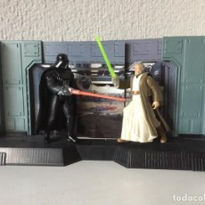 Figuras y Muñecos Star Wars: DARTH VADER VS BEN (OBI-WAN) KENOBI ELECTRONIC POWER F/X - STAR WARS - POTF 1997 KENNER ¡COMO NUEVO!. Lote 287909028