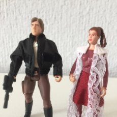 Figuras y Muñecos Star Wars: PRINCESS LEIA AND HAN SOLO - STAR WARS - THE POWER OF THE FORCE - 1997 - KENNER - ¡COMO NUEVO!. Lote 287919458