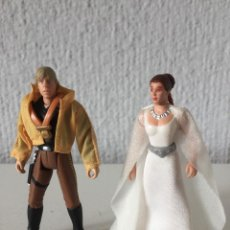 Figuras y Muñecos Star Wars: PRINCESS LEIA AND LUKE SKYWALKER - STAR WARS - THE POWER OF THE FORCE - 1997 - KENNER - ¡COMO NUEVO!. Lote 287920403