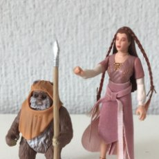 Figuras y Muñecos Star Wars: PRINCESS LEIA AND WICKET THE EWOK - STAR WARS - THE POWER OF THE FORCE - 1997 - KENNER ¡COMO NUEVO!. Lote 287921913
