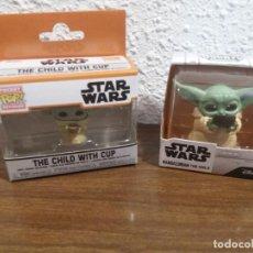Figuras y Muñecos Star Wars: 2 FIGURAS PEQUEÑAS DE BABY YODA. Lote 288229563