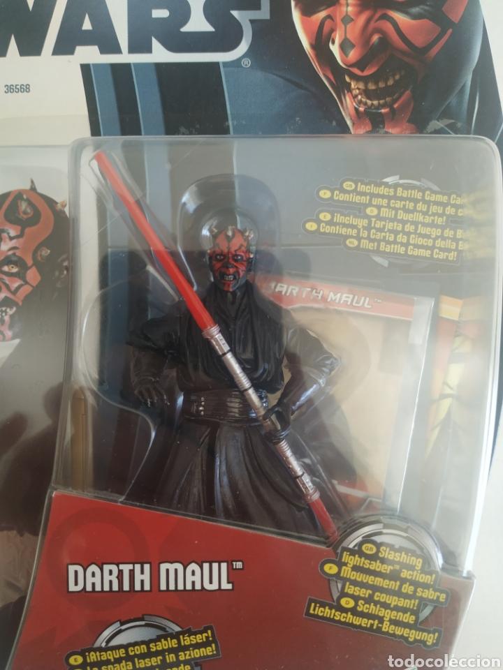 Figuras y Muñecos Star Wars: STAR WARS DARTH MAUL MOVIE HEROES BLISTER SIN ABRIR HASBRO - Foto 2 - 288334393
