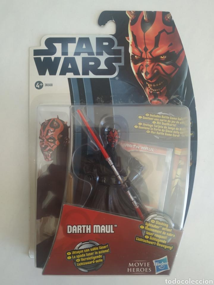 STAR WARS DARTH MAUL MOVIE HEROES BLISTER SIN ABRIR HASBRO (Juguetes - Figuras de Acción - Star Wars)