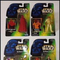Figure e Bambolotti Star Wars: STAR WARS LOTE DE 4 FIGURAS # ROYAL GUARD, ACKBAR, LEIA, HAN SOLO #THE POWER OF THE FORCE, KENNER.. Lote 288723968