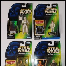 Figuras y Muñecos Star Wars: STAR WARS LOTE DE 4 FIGURAS # SNOWTROOPER, LEIA, REBEL SOLDIER, DENGAR # POWER OF THE FORCE, KENNER.. Lote 288724883
