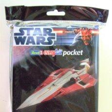 Figuras y Muñecos Star Wars: JEDI STARFIGHTER - STAR WARS REVELL EASY KIT POCKET ESCALA 1:80 NAVE FIGHTER MAQUETA. Lote 295820898