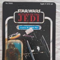 Figuras y Muñecos Star Wars: TIE FIGTHER PILOT MOC BURBUJA ROTA STAR WARS VINTAGE. Lote 296907488