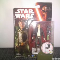 Figuras y Muñecos Star Wars: STAR WARS THE FORCE AWAKENS HAN SOLO JAKKU HASBRO BLISTER NUEVO JEDIS DROIDES EWOKS. Lote 297076618