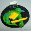Figuras y Muñecos Tortugas Ninja: PIZZA DISCO TORTUGAS NINJA LEONARDO AÑOS 90. Lote 74934377
