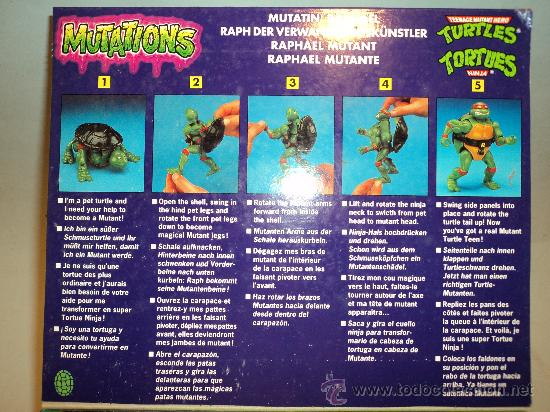Figuras y Muñecos Tortugas Ninja: Tortugas Ninja, RAPHAEL MUTANTE, de Bandai. 1988 Mirage Studios,Playmates. - Foto 4 - 29271418