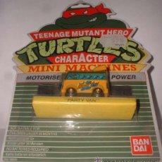 Figuras y Muñecos Tortugas Ninja: TORTUGAS NINJAS MINI, PARTY VAN, DE BANDAI, EN BLISTER. CC. Lote 97894487