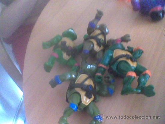 LOTE DE 4 TORTUGAS NINJA 1989 MIRAGE STUDIOS PLAYMATES TOYS (Juguetes - Figuras de Acción - Tortugas Ninja)