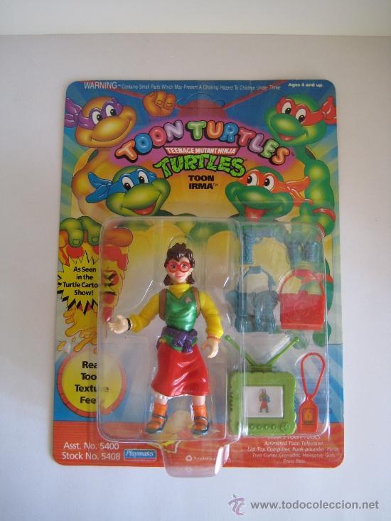 1993 VINTAGE TEENAGE MUTANT NINJA TMNT TORTUGAS NINJA - IRMA (Juguetes - Figuras de Acción - Tortugas Ninja)