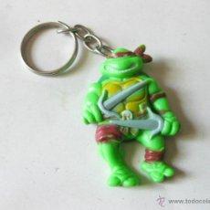 Figuras y Muñecos Tortugas Ninja: LLAVERO DE LEONARDO DE LAS TORTUGAS NINJA - MIRAGE ESTUDIOS 1988. Lote 39381734