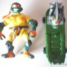 Figuras y Muñecos Tortugas Ninja: MUÑECO TORTUGAS NINJA MICHELANGELO BIKIN MIKE DE 13 CM PLAYMATES. Lote 44449048