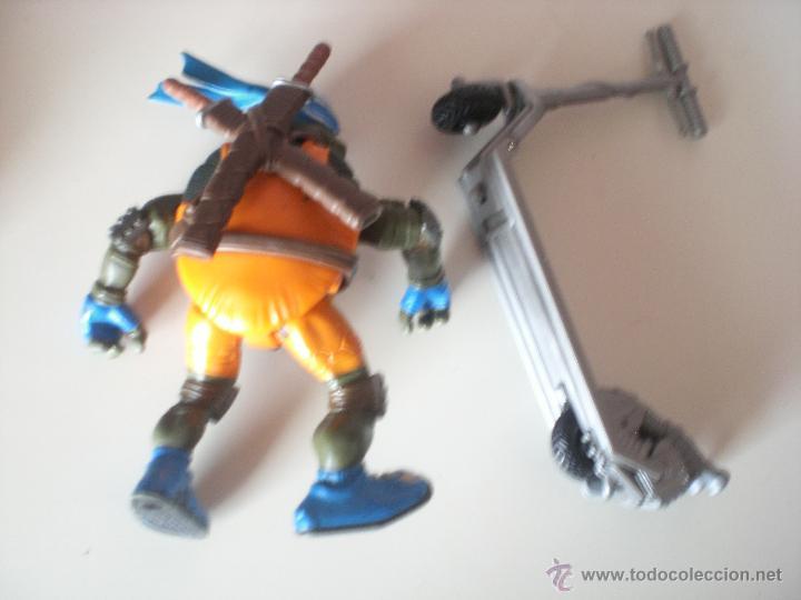 Figuras y Muñecos Tortugas Ninja: Muñeco Tortugas Ninja Leonardo Bikin Leo de 13 cm Playmates - Foto 2 - 44449191
