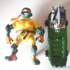 Figuras y Muñecos Tortugas Ninja: MUÑECO TORTUGAS NINJA MICHELANGELO BIKIN MIKE DE 13 CM PLAYMATES. Lote 44449322