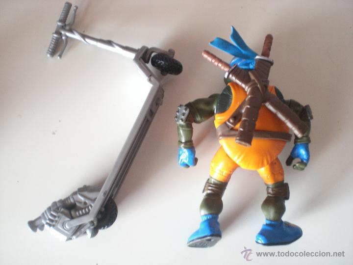 Figuras y Muñecos Tortugas Ninja: Muñeco Tortugas Ninja Leonardo Bikin Leo de 13 cm Playmates - Foto 2 - 44449340